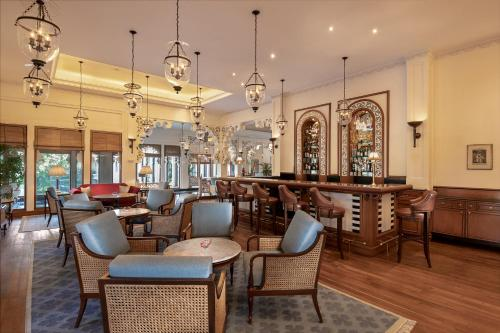 A restaurant or other place to eat at Trident Udaipur