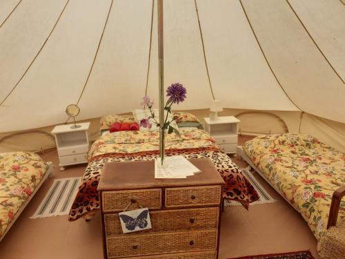 Cama o camas de una habitación en Hidden Valley Andalucia