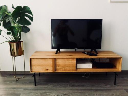 A television and/or entertainment centre at Victus Apartamenty, Apartament Edison