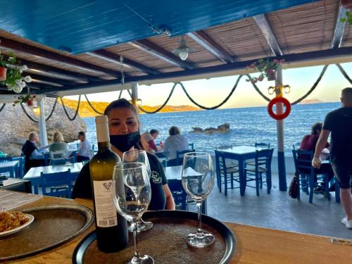 A restaurant or other place to eat at Agia Fotia Taverna