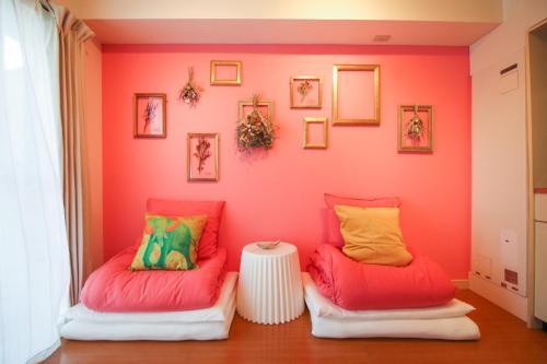 A seating area at Sunplaza 126 Shimanouchi - Vacation STAY 42941v