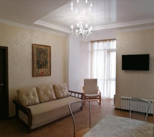 Гостиная зона в Апартаменты на Луначарского