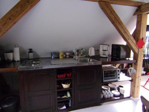 Küche/Küchenzeile in der Unterkunft Kleines Schlösschen