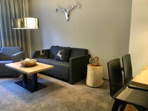 Ein Sitzbereich in der Unterkunft NaturBoutique Hotel RAUSZEIT