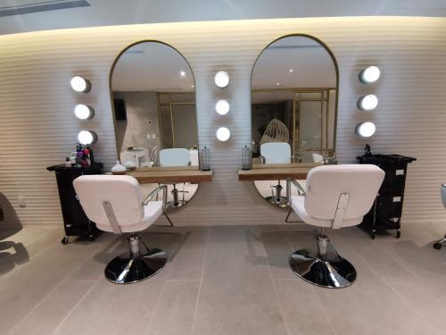 A bathroom at Marina Fiesta Resort & Spa, A La Carte All Inclusive Optional