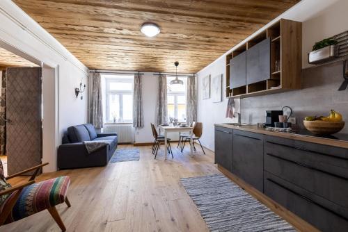 Küche/Küchenzeile in der Unterkunft SportRedia Appartements