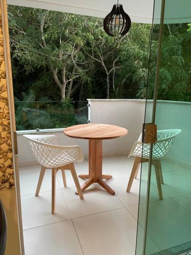 A balcony or terrace at Apartamento Capitães de Areia Ilheus