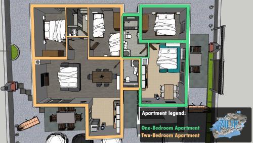 Tlocrt objekta ZILIP Apartments