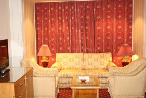 A seating area at Grand Hotel Beirut