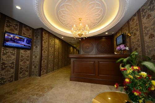 The lobby or reception area at Grand Bazaar Hotel