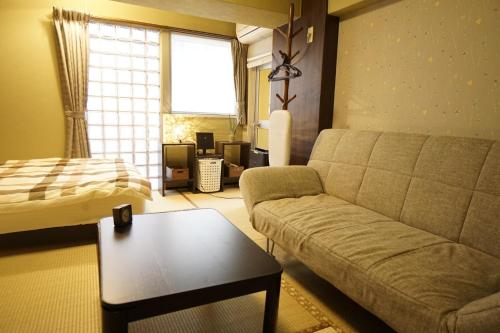 A seating area at Riviere Dotonbori - Vacation STAY 8022