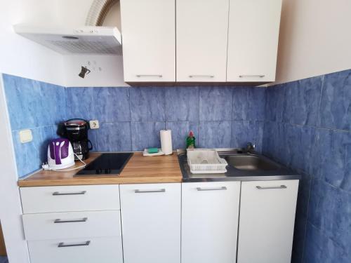 Cuisine ou kitchenette dans l'établissement Apartments Lira