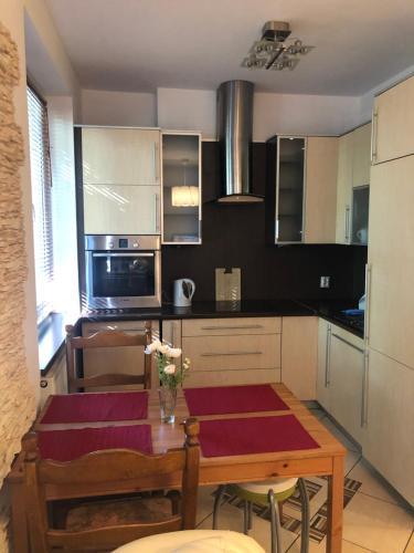 A kitchen or kitchenette at Apartament Króla Jana