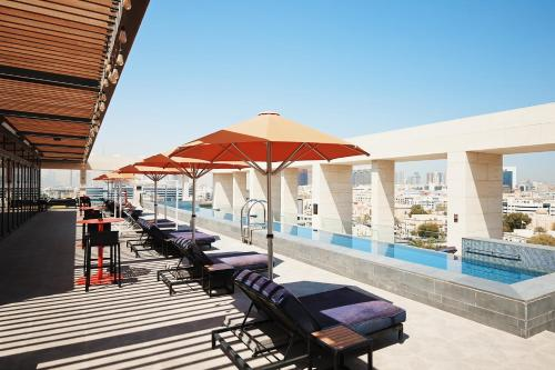 The swimming pool at or close to Canopy by Hilton Dubai Al Seef