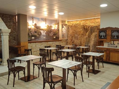 A restaurant or other place to eat at O Cabanel