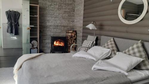Ein Bett oder Betten in einem Zimmer der Unterkunft Villa Marienholm