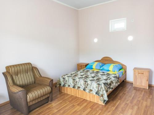 Кровать или кровати в номере Отель Лайнер