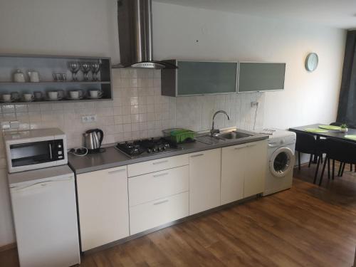 Kuchyňa alebo kuchynka v ubytovaní Apartmán Tobias, Vysoké Tatry