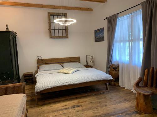 Postel nebo postele na pokoji v ubytování Pension Sebastian