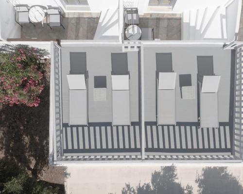 The floor plan of Mykonos Essence Hotel