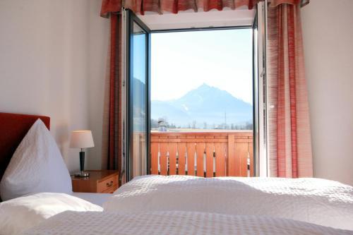Cama o camas de una habitación en Hotel Sonnenhof - bed & breakfast & appartements