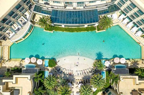 A view of the pool at Palazzo Versace or nearby