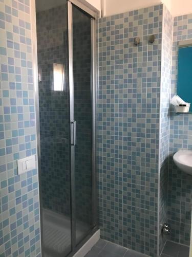 Koupelna v ubytování Hotel Centrale
