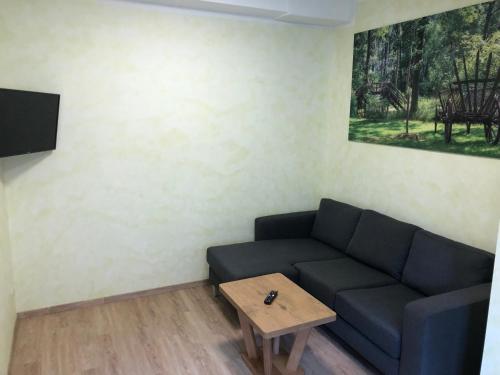 Ein Sitzbereich in der Unterkunft Gasthof zum Slawen