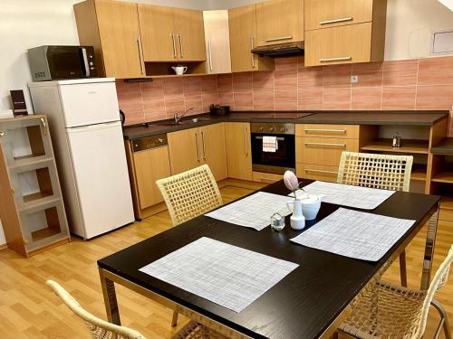 Kuchyň nebo kuchyňský kout v ubytování Hotel Freud