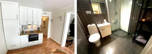 A bathroom at Sanderstølen Hotell