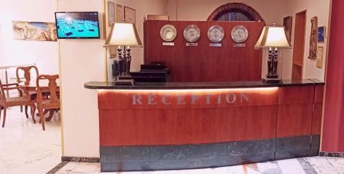 Лобби или стойка регистрации в Гостиница Оксана