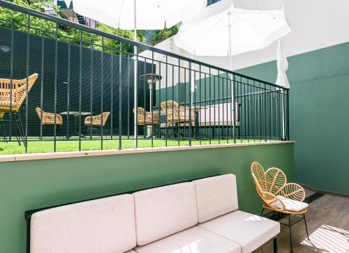Uma varanda ou terraço em LX SoHo Boutique Hotel