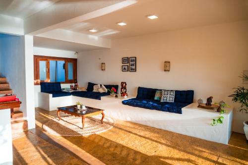 A seating area at Casa Canoa