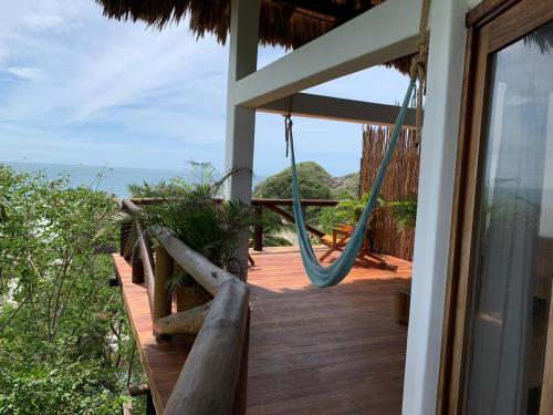 A balcony or terrace at El Alquimista Yoga Spa