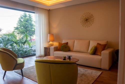 Uma área de estar em Santa Eufémia Covilhã Hotel