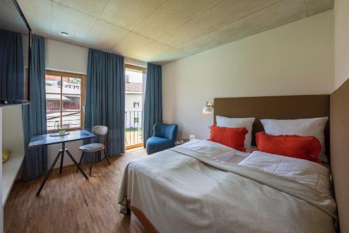 Ein Bett oder Betten in einem Zimmer der Unterkunft pradl elf my- apartment