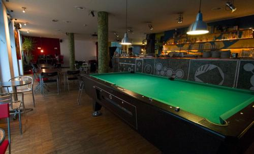 A pool table at Heart of Gold Hostel Berlin
