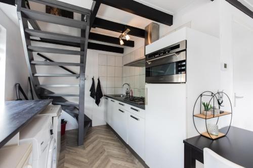Küche/Küchenzeile in der Unterkunft Holiday Home Oostkapelle