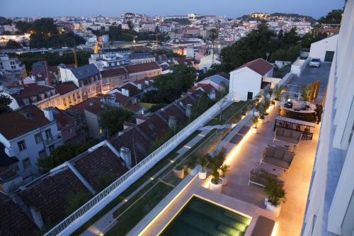 Uma vista aérea de Memmo Príncipe Real - Design Hotels