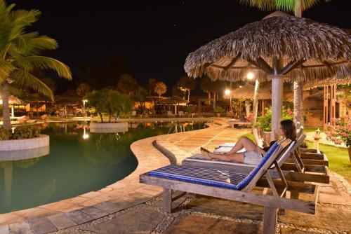 The swimming pool at or near Porto Preguiças Resort