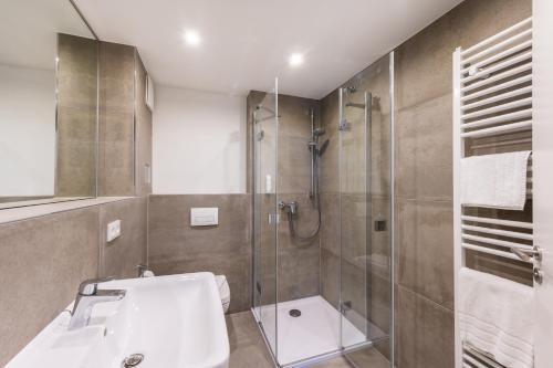 Ванная комната в Hotel Königslinie