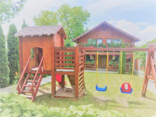 Children's play area at Casa Gherman