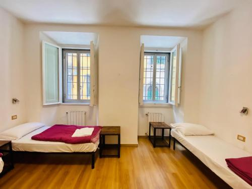 A bed or beds in a room at My Friends
