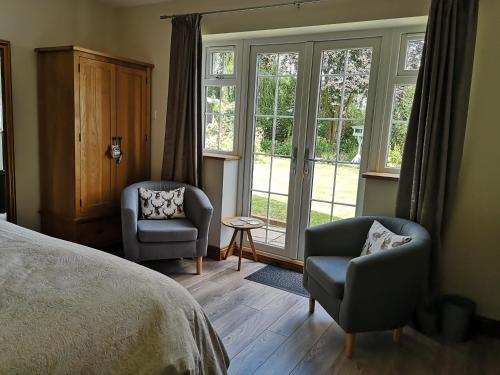 A seating area at White Cottage B and B