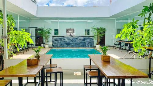 The swimming pool at or near Onederz Sihanoukville