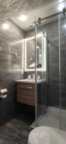 Ванная комната в Усадьба в горах