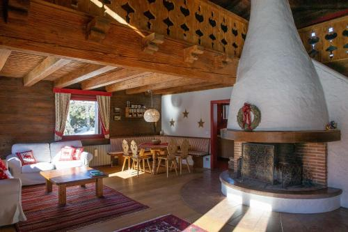 A restaurant or other place to eat at Beautiful Chalet Carezza