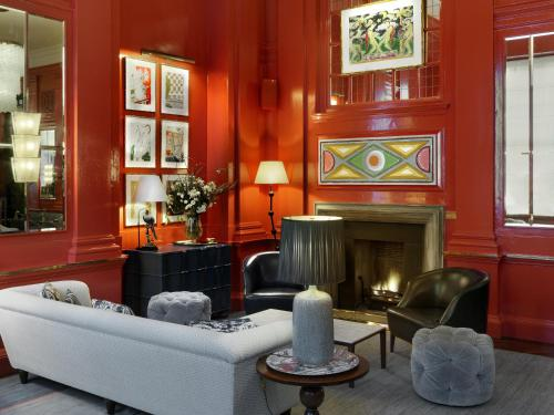 The lobby or reception area at The Bloomsbury Hotel