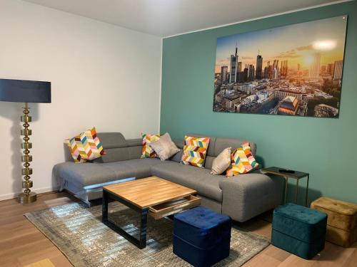 A seating area at Apartment Argenta 1 OG mit Balkon