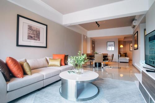 A seating area at Great World Serviced Apartments (SG Clean)
